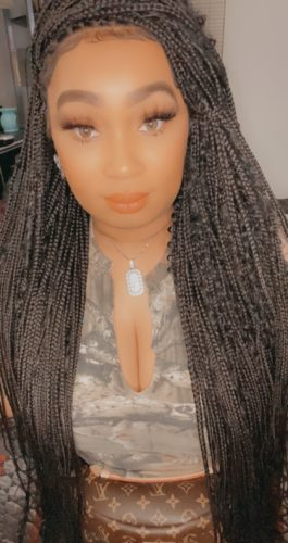 CARA Boho Triangle Knotless Braids (small) photo review